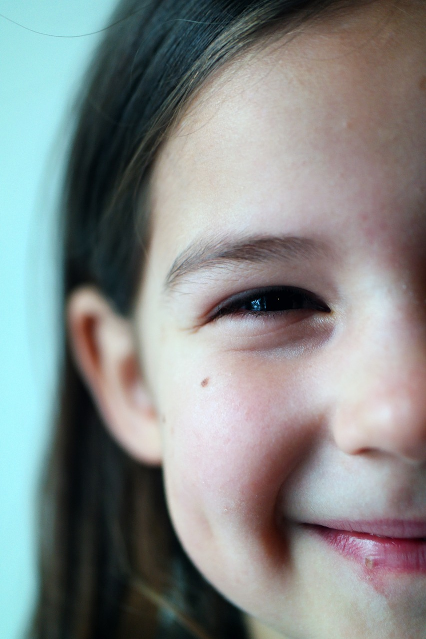 close-up van een meisje