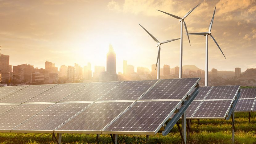 zonnepanelen en windmolens